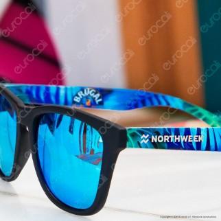 Northweek Edizione Limitata Mod. Paraiso Brugal - Occhiali da Sole con Lenti Polarizzate Antigraffio