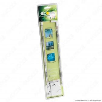 Ecova Striscia LED 2,4W per Sottopensile con Sensore e Alimentazione a Batterie - SKU 2548 / 2549