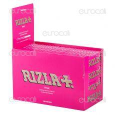 Cartine Rizla Pink Corte - Scatola da 100 Libretti