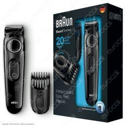 Braun Rasoio Elettrico Regola Barba e Capelli BT3020 senza Fili Colore Nero