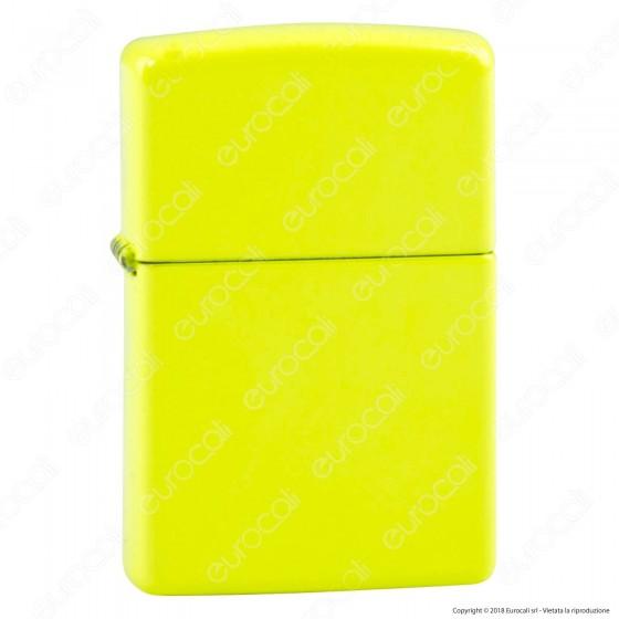 Accendino Zippo Mod. 28887 Neon Yellow - Ricaricabile Antivento