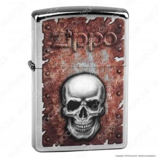 Accendino Zippo Mod. 29870 Skull Heart - Ricaricabile Antivento