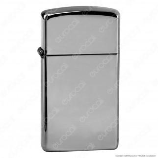 Accendino Zippo Mod. 1610 Cromo Lucido Slim - Ricaricabile Antivento