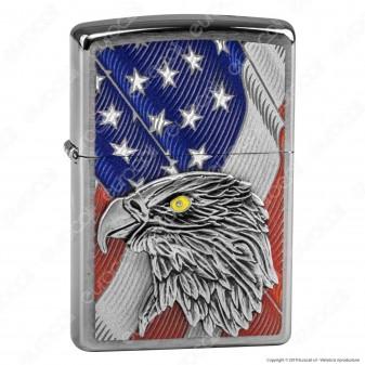 Accendino Zippo Mod. 29508 Eagle Placca - Ricaricabile Antivento