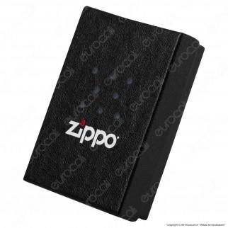 Accendino Zippo Mod. 29232 PVD Black Ice Rosa dei Venti - Ricaricabile Antivento
