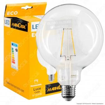 Marino Cristal Serie ECO Lampadina LED E27 2,5W Globo G125 Filament Dimmerabile - mod. 21547