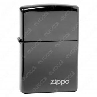 Accendino Zippo Mod. 24756 PVD Black con Logo - Ricaricabile Antivento