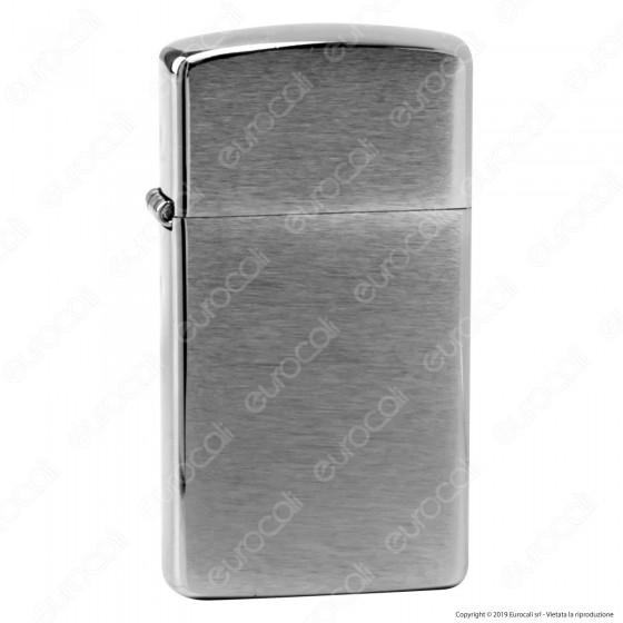 Accendino Zippo Mod. 1600 Cromo Satinato Slim - Ricaricabile Antivento