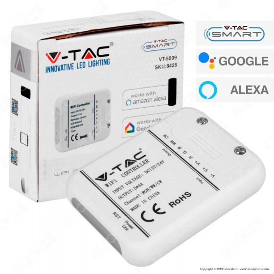 V-Tac Smart VT-5009 Wi-Fi Controller Dimmer per Strisce LED - SKU 8426