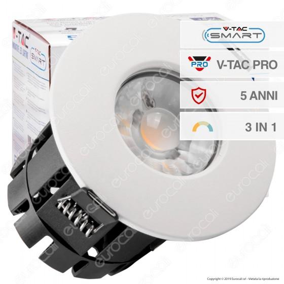 V-Tac PRO VT-7710D Faretto LED da Incasso Rotondo 10W Dimmerabile Smart IP65 - SKU 1424