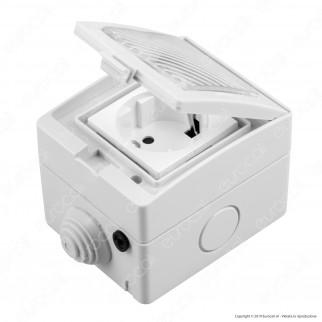 V-Tac Smart VT-5000 Presa 10A Schuko Wi-Fi da Esterno - SKU 8414