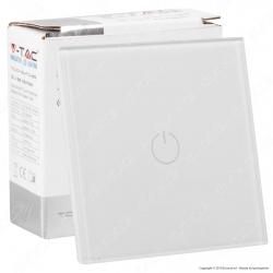 V-Tac VT-5111 Interruttore Touch Colore Bianco con 1 Tasto - SKU 8354
