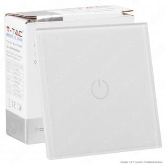 V-Tac Smart VT-5111 Interruttore Touch Colore Bianco con 1 Tasto - SKU 8354