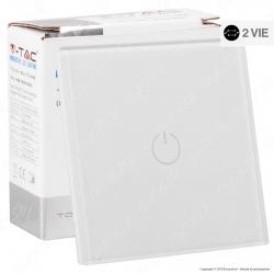 V-Tac VT-5121 Interruttore Touch Colore Bianco con 1 Tasto a 2 Vie - SKU 8360