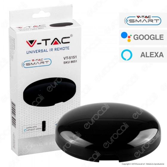 V-Tac Smart VT-5151 Universal IR Remote Compatibile con Amazon Alexa e Google Home- SKU 8651