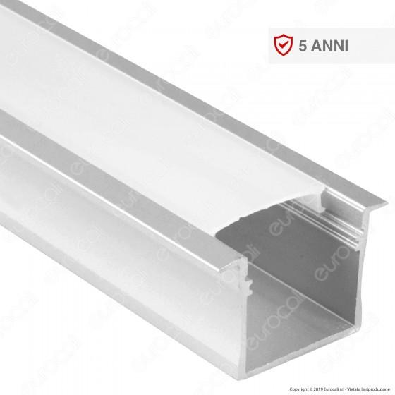 V-Tac VT-8119 Profilo in Alluminio per Strisce LED - Lunghezza 2 metri - SKU 3372