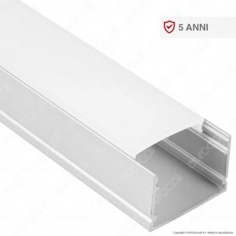 V-Tac VT-8118 Profilo in Alluminio per Strisce LED - Lunghezza 2 metri - SKU 3371