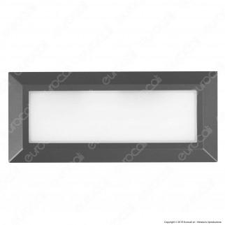 Lutec Helena Faretto Segnapasso LED a Montaggio Superficiale Rettangolare 10.5W per Esterno - Mod. 5191601118