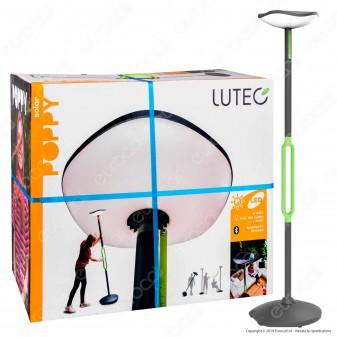 Lutec Lampada LED da Terra 8W con Pannello Solare e Speaker Bluetooth - mod. Poppy