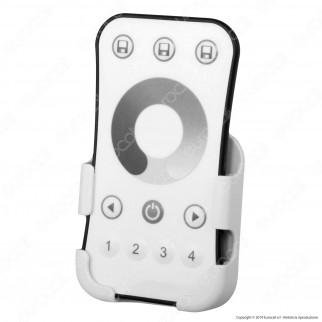 Life Kit Controller Dimmer a 4 zone per Strisce LED con Telecomando e connessione pulsante cablato - mod. 16.LT5RDK