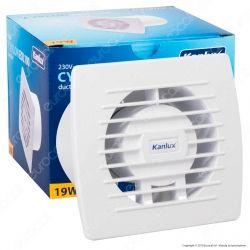 Kanlux Cyklon EOL100B Aspiratore da Canale 19W IPX4 - mod. 70911