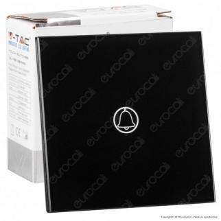 V-Tac VT-5411 Pulsante Touch Doorbell Colore Nero - SKU 8397