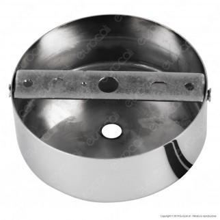 FAI Rosone Cilindrico in Metallo 1 Foro Colore Cromo - mod. 1159/CR