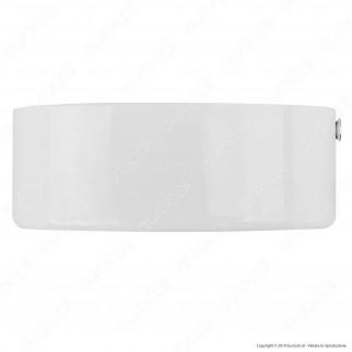 FAI Rosone Cilindrico in Metallo 1 Foro Colore Bianco Lucido - mod. 1159/BI