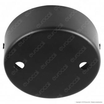 FAI Rosone Cilindrico in Metallo 2 Fori Colore Nero Opaco - mod. 1159/NE/OP/2