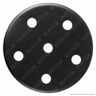 FAI Rosone Cilindrico in Metallo 6 Fori Colore Nero Opaco - mod. 1159/NE/OP/6