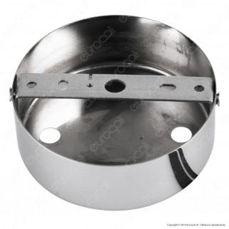 FAI Rosone Cilindrico in Metallo 2 Fori Colore Cromo - mod. 1159/CR/2