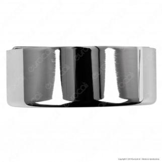FAI Rosone Cilindrico in Metallo 3 Fori Colore Cromo - mod. 1159/CR/3