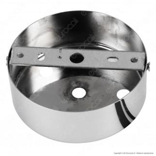 FAI Rosone Cilindrico in Metallo 6 Fori Colore Cromo - mod. 1159/CR/6
