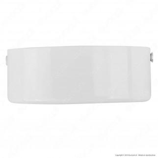 FAI Rosone Cilindrico in Metallo 2 Fori Colore Bianco Lucido - mod. 1159/BI/2