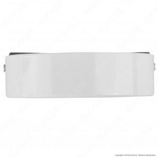 FAI Rosone Cilindrico in Metallo 8 Fori Colore Bianco Lucido - mod. 1159/BI/8