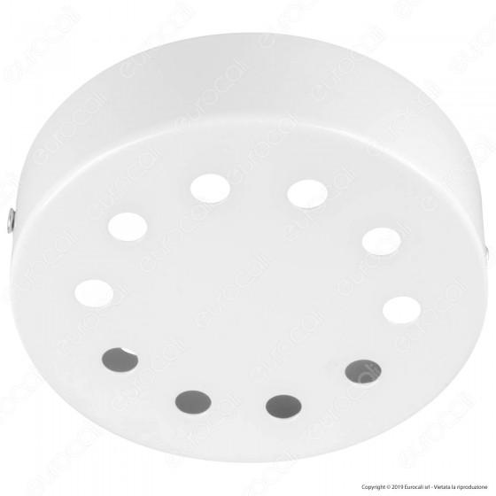FAI Rosone Cilindrico in Metallo 10 Fori Colore Bianco Lucido - mod. 1159/BI/10