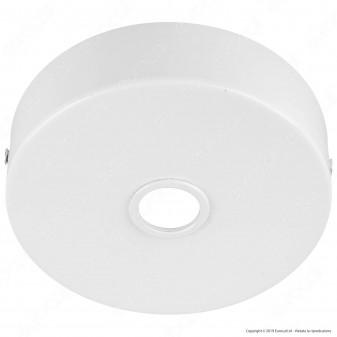 FAI Rosone Cilindrico in Metallo 1 Foro 25mm Colore Bianco Lucido - mod. 1159/BI/D25