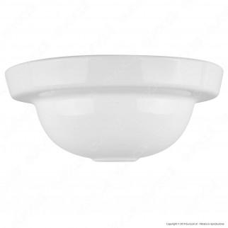FAI Rosone Rotondo in Porcellana 1 Foro Colore Bianco Lucido - mod. 9004/BI