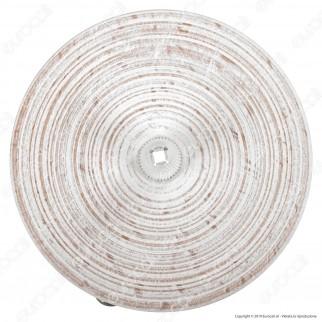 FAI Rosone Cilindrico in Legno 1 Foro Colore Bianco - mod. 7012/1/BI/F