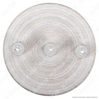 FAI Rosone Cilindrico in Legno 3 Fori Colore Bianco - mod. 7012/3/BI/F