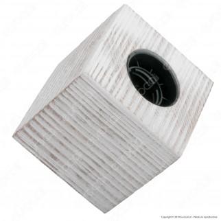 FAI Bicchiere Portalampada in Legno per Lampadine E27 Colore Bianco
