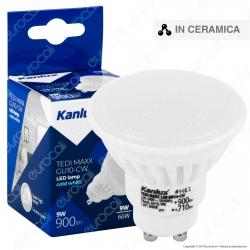 Kanlux TEDI MAXX Lampadina LED GU10 9W Faretto Spotlight 120° - mod. 23412 / 23413