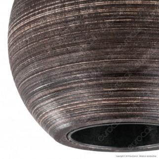 FAI Bicchiere Portalampada Sferico in Legno per Lampadine E27 Colore Wengè