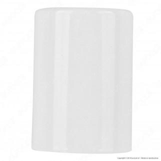 FAI Bicchiere Portalampada Cilindrico in Metallo per Lampadine E27 Colore Bianco