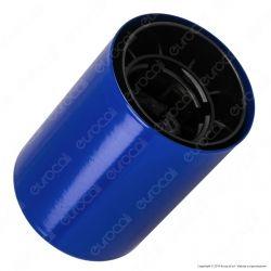 FAI Bicchiere Portalampada Cilindrico in Metallo per Lampadine E27 Colore Blu - mod. 0146/BL