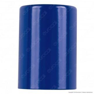 FAI Bicchiere Portalampada Cilindrico in Metallo per Lampadine E27 Colore Bianco - mod. 0146/BI