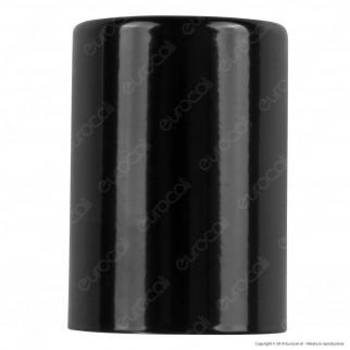 FAI Bicchiere Portalampada Cilindrico in Metallo per Lampadine E27 Colore Nero Lucido - mod. 0146/NE