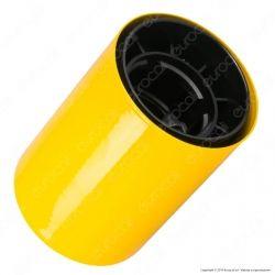 FAI Bicchiere Portalampada Cilindrico in Metallo per Lampadine E27 Colore Giallo - mod. 0146/GI