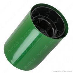 FAI Bicchiere Portalampada Cilindrico in Metallo per Lampadine E27 Colore Verde - mod. 0146/VE
