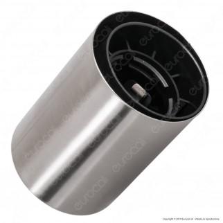 FAI Bicchiere Portalampada Cilindrico in Metallo per Lampadine E27 Colore Satinato - mod. 0146/SA